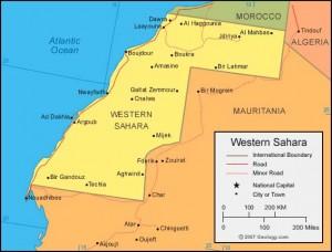 Western Sahara Map
