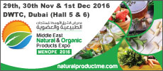 Middle East Natural & Organic Product Expo MENOPE 2016