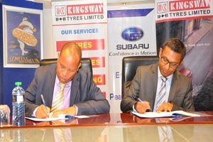 Subaru Kenya And Kingsway Tyres Sign Distribution Deal